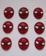Spiderman Plastic Resin Flatback Cabochons Qty.... - $6.50