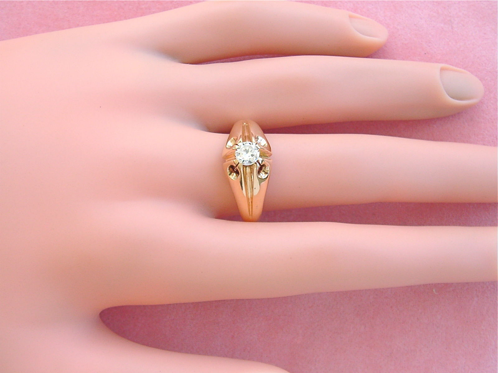 Vintage .45ct Transitional Diamond Solitaire and 50 similar items