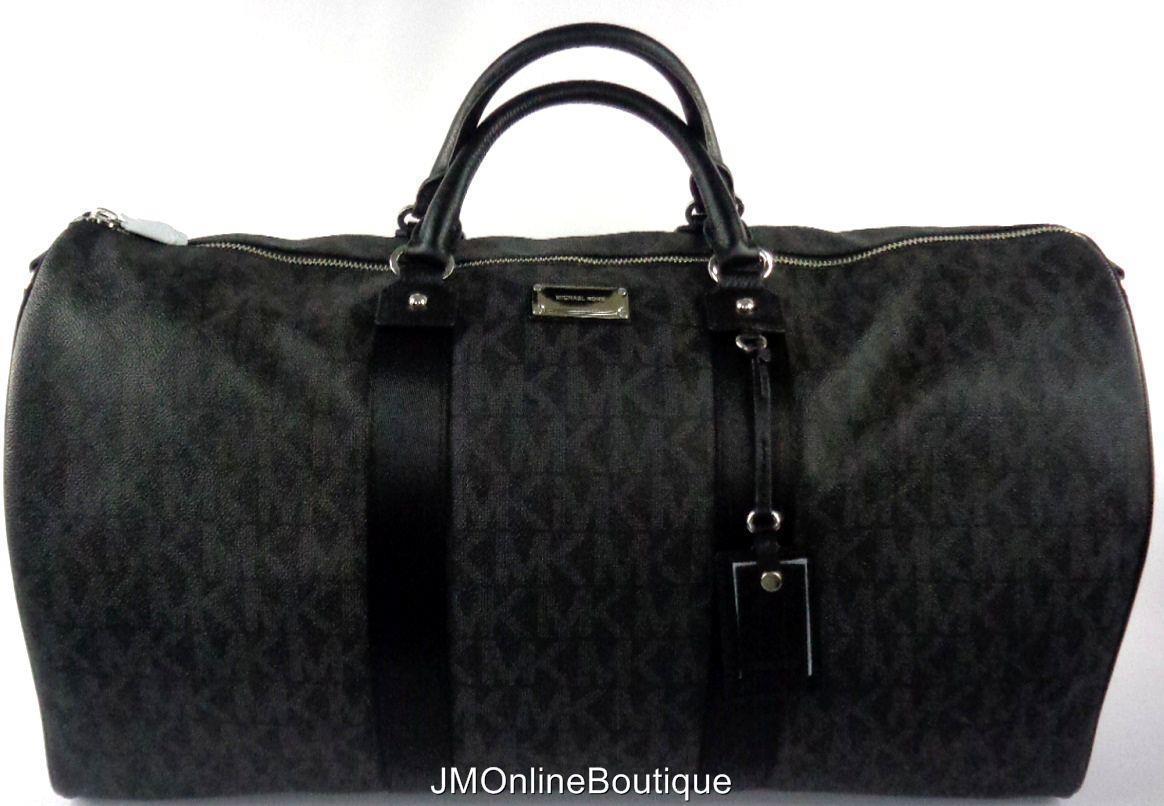 5fba8ea12e44 S l1600. S l1600. Michael Kors 35T6STFU4B Women's XL Large Weekender Travel  Duffle Bag Black NEW!