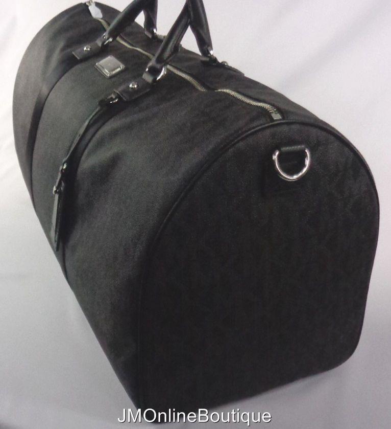 b6a575b0192b Michael Kors 35T6STFU4B Women's XL Large Weekender Travel Duffle Bag Black  ...