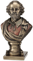 William Shakespeare bust bronze finish home decor statue figure - $49.50