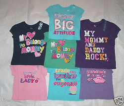 Toddler Girls Childrens Place Mommy Daddy Brother Grandma TShirts Many S... - $7.69