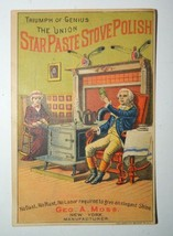 Vintage/Antique Geo. A. Moss Star Paste Stove Polish Trade Card - $13.98