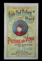 Vintage Schultz & Co Little Red Riding Hood Picture & Verse Trade Card/B... - $32.68