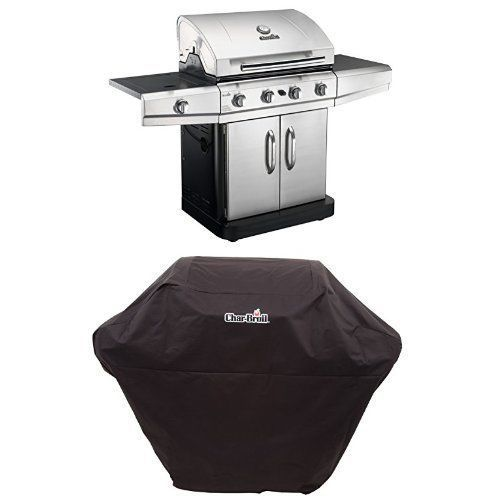 Char-Broil Classic 4-Burner Stainless-Steel 48,000-BTU Propane Gas Grill w/Cover