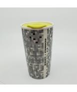 Starbucks Rodarte Pixel Double Wall Ceramic Travel Tumbler 12 oz with lid  - $16.00