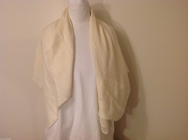 Cream Colored Rectangle Scarf,  light weight , new