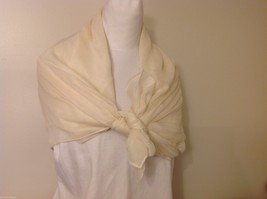 Cream Colored Rectangle Scarf,  light weight , new image 2