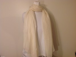 Cream Colored Rectangle Scarf,  light weight , new image 3