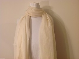 Cream Colored Rectangle Scarf,  light weight , new image 4