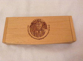 "Wooden Collectibles Trinket Box Carved Native Indian Face and ""Lake Char... - $39.99"