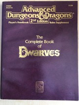 Advanced Dungeons and Dragons: Complete Dwarves by TSR Hobbies Staff (1991,... - $22.28