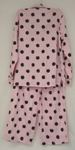 Morgan Taylor Intimates Pink Dot Pajama Set Adult Medium Grade B image 2