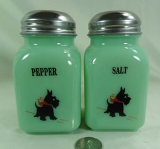 Salt & Pepper Shaker Set w/ Scottie Scotty Dogs... - $31.78