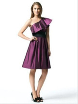 Dessy 2838*...Knee length, One shoulder Dress.....Sugar Plum...Sz 8 - $14.84