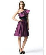 Dessy 2838*...Knee length, One shoulder Dress.....Sugar Plum...Sz 8 - $14.84