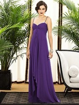 Dessy 2883....Full length, Chiffon, Spaghetti Strap Dress,....Majestic..... - €69,04 EUR