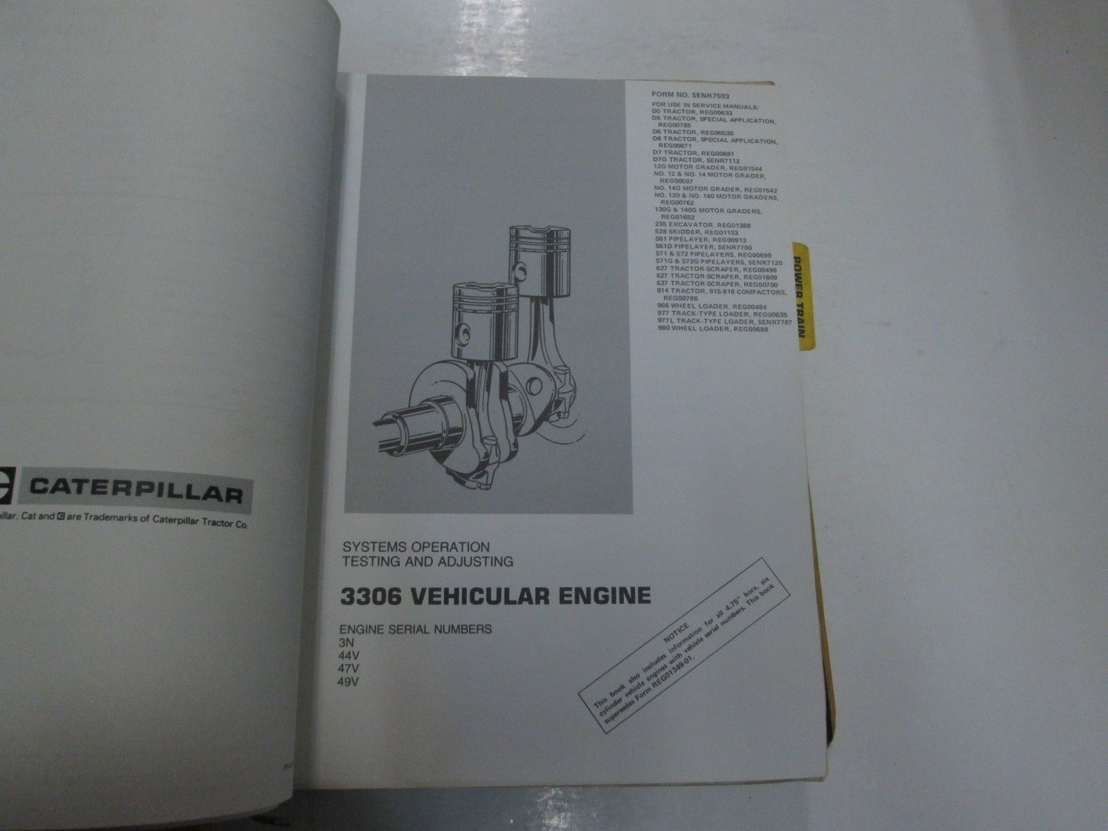 Caterpillar 3304 3306 Engines Supplement and 50 similar items