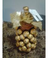 Ferrero Rocher Gold Pineapple - Edible Gift - Edible Centerpiece  - $65.99