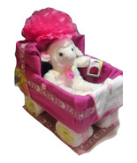 Baby Girl Diaper Carriage Cake Baby Shower Centerpiece Gift with free sh... - $99.99