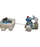 Handmade Diaper Tricycle pulling Wagon Baby Shower Centerpiece Gift - $105.99