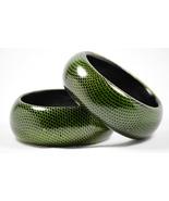 Handmade Wooden  Snakes-print Bangles bracelet - $12.00