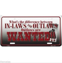 What's The Difference In Laws And Outlaws In Laws Made In Usa License Plate - $29.69