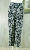 Ann Taylor Womens Crop Pants Size 10 Blue Floral Print Wide Leg - $7.69