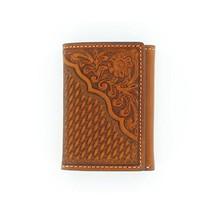 Nocona Belt N5446608 Pro Tri-Fold Floral Corner Wallet, Tan - One Size - $39.59