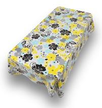 Tablecloth Table Cloth Vinyl Rectangle 52 x 90 RETRO GARDEN FLORAL Wipe ... - $12.33
