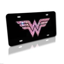 Wonder Woman Pink Emblem On Black License Plate Made In Usa - $36.09