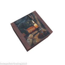 Witching Hour Mirror Box Anne Stokes Collection Cat  Wican Trinket Box C... - $13.85