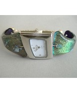 Seafoam Green Watch Dali Angle Dichroic Fused G... - $295.00