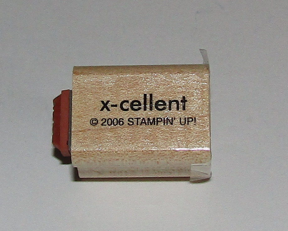 "Primary image for X-Cellent Zany Rubber Stamp Mini Words Stampin Up Two-In-One WM 1"" Long"