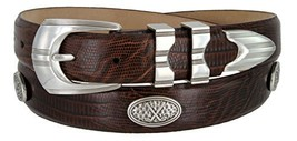 Silverwood- Men's Italian Calfskin Designer Golf Dress Belt (LBRN,48) - $39.55