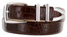 Wilshire Italian Calfskin Leather Designer Dress Belts for Men (46, Alligator... - $29.20