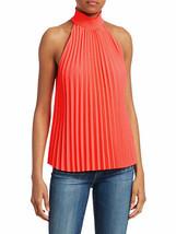 NEW ALC Imani High Neck Pleated Top Orange Size 12 $295 - $85.91