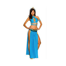 Ancient Egypt Feature Court Garment Cosplay Game Stage Costume Uniform - $37.99