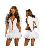 Halloween Garment White Cute Angel with Wings Costume - $33.99