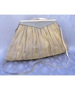Helena Gold Silver Purse Handmade Evening Bag W... - $300.00