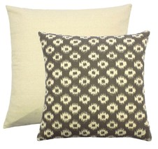 "FILLED AZTEC STYLE GREY CREAM TAPESTRY CUSHION 18"" - 45CM - $11.58"