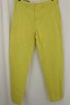 Ralph Lauren Pants 34 x 31 Yellow Preston Mens Trousers 100% Cotton Flat Front - $44.99