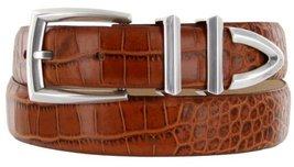 Wilshire Italian Calfskin Leather Designer Dress Belts for Men (54, Alligator... - $29.20