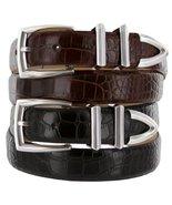 Wilshire Italian Calfskin Leather Designer Dress Belts for Men (40, Lizard Bl... - $29.20