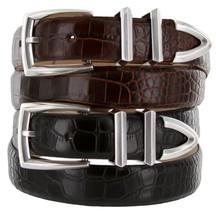 Wilshire Italian Calfskin Leather Designer Dress Belts for Men (44, Lizard Bl... - $29.20