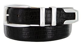 S5786 - Men's Italian Calfskin Designer Dress Belt with Silver Plated Buckle ... - $29.20