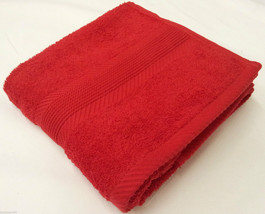 RED 100% COTTON BATH TOWEL 70 X 120CM - $8.08