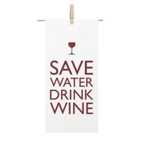 WINE RED WHITE 100% COTTON WINE GLASS SAVE WATE... - $11.59