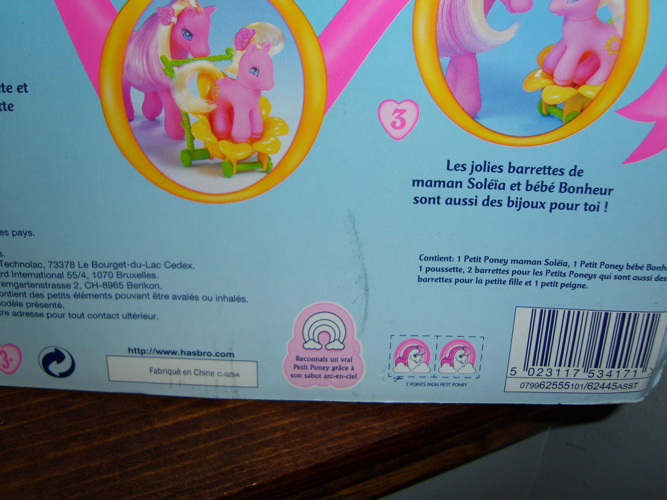 My Little Pony G2 MOC Sunsparkle and Baby Sunbeam french card
