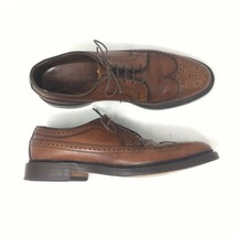 Allen Edmonds Men Sz 9B Mac Neil Longwing Derby Blucher Brown Pebble Leather Usa - $108.90